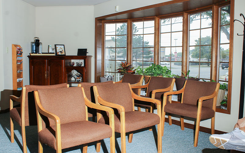 Front Office, waiting area